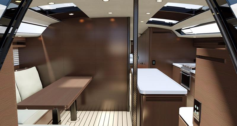 German Frers 57 - Conversion to cabin with en-suite - photo © Kit Carlier