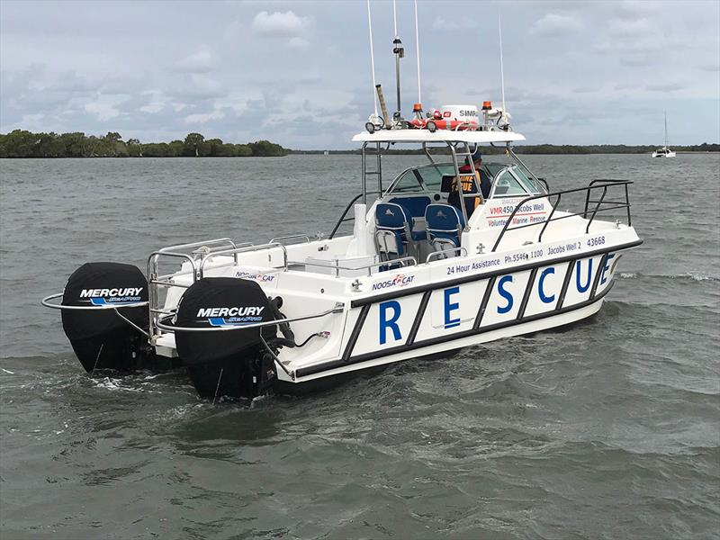 The new Noosa Cat 2400 operated by the Jacobs Well Volunteer Marine Rescue squadron - photo © Mercury Marine