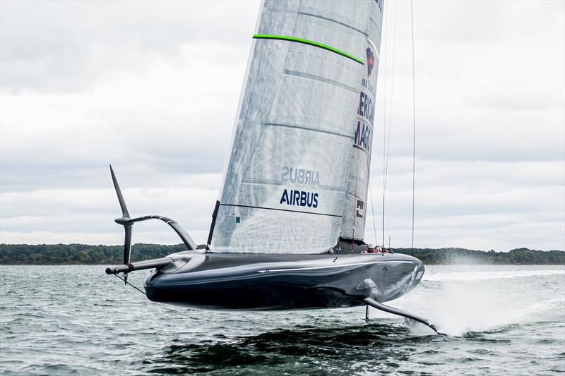 NYYC American Magic's  AC75 Defiant sailing in Newport, Rhode Island. - photo © Amory Ross / NYYC American Magic