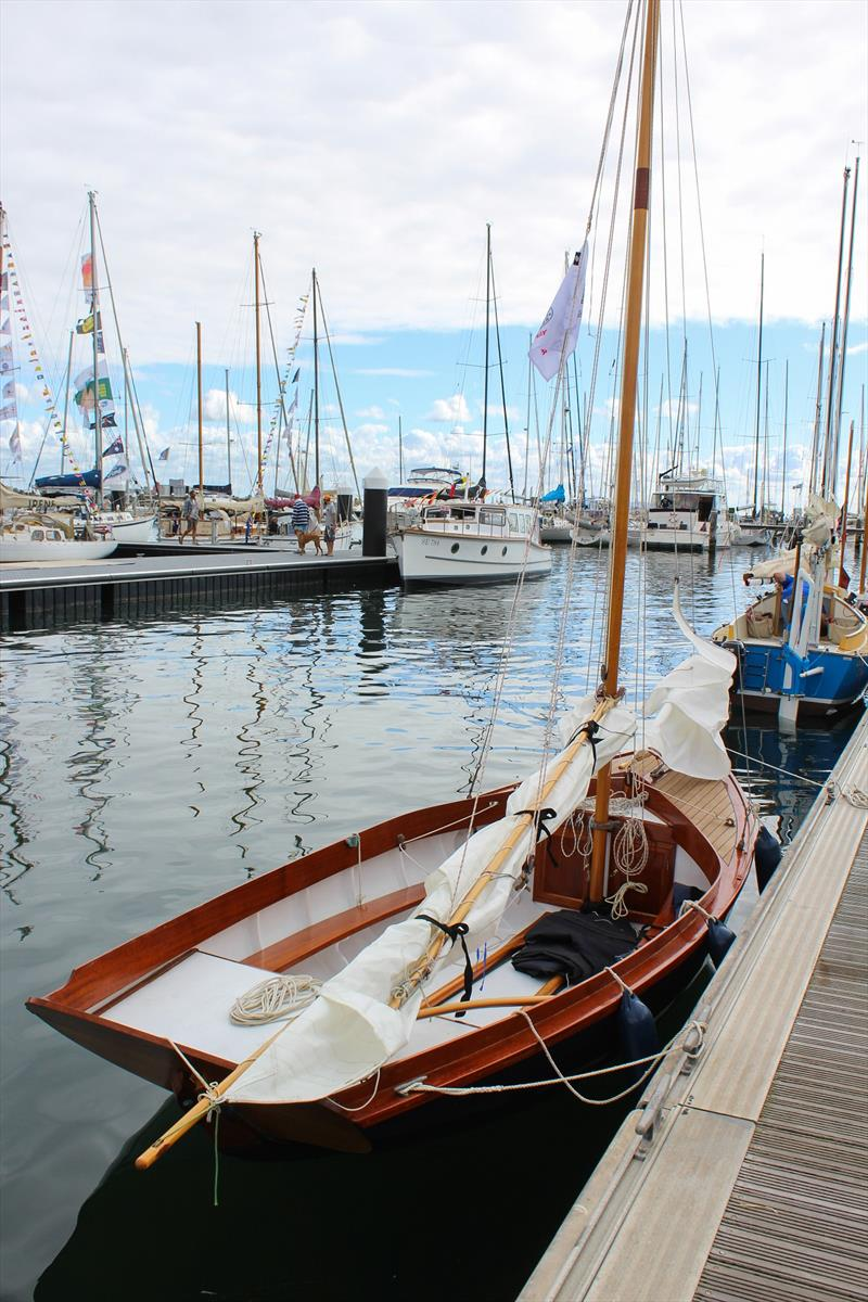 Steve built 'Larrikin of Lyme' in 2015 in Lyme Regis, UK - Wooden Boat Festival of Geelong photo copyright Sarah Pettiford taken at Royal Geelong Yacht Club and featuring the Classic & Vintage Dinghy class