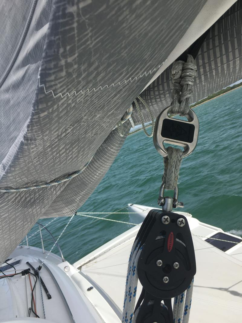 smartlink on a trimaran mainsheet photo copyright Cyclops Marine taken at  and featuring the  class