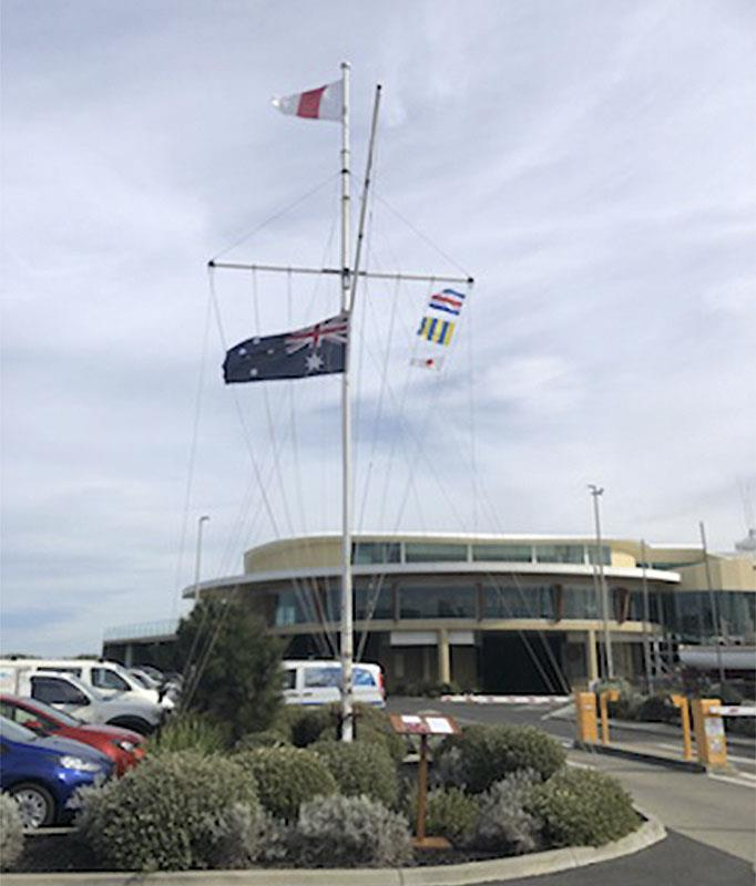Half mast today at the Sandringham Yacht Club - photo © Photo supplied