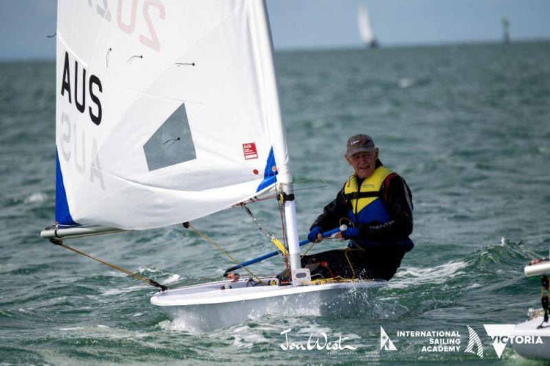 Two-time world champion Kerry Waraker sailed two perfect races to lead the Legends - photo © Jon West Photography
