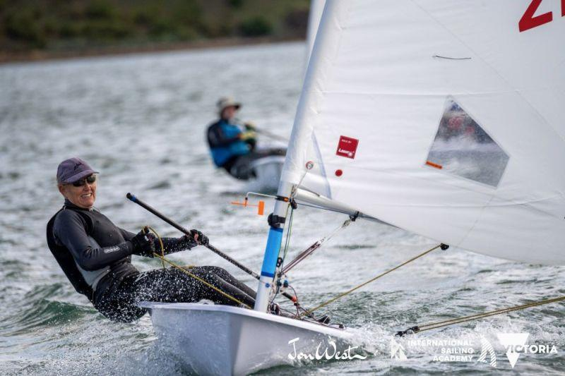 Vanessa Dudley started the regatta with two low scores to be first woman in the Radial Grand Masters division. - photo © Jon West Photography