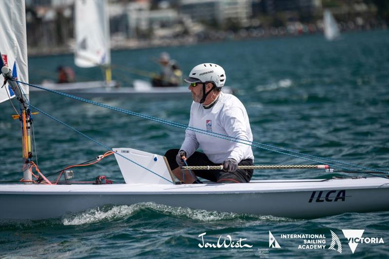 Paul Clifford from Canada finished 2nd in the Radial Great Grand Masters - Oceania and Australian Laser Masters Championship - photo © Jon West Photography