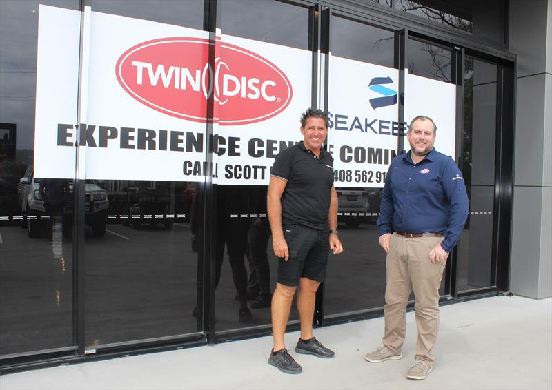 Shane Subichin and Branch Manager Scott Redman at the Twin Disc Pacific Seakeeper Experience Centre - photo © Twin Disc