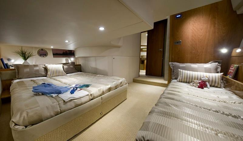 Riviera 43 Open Flybridge guest cabin - photo © Riviera Studio