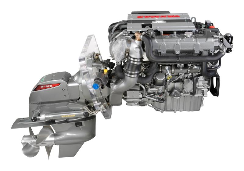 Yanmar 4LV marine diesel engine with ZT370 sterndrive - photo © Yanmar Marine International