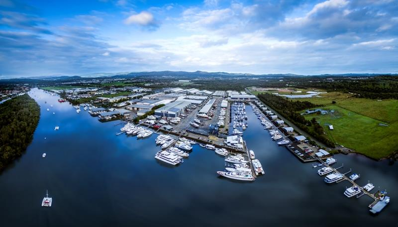 Aerial view of Coomera precinct, the location for the Marinas19 technical tour photo copyright Marina Industries Association taken at  and featuring the Marine Industry class