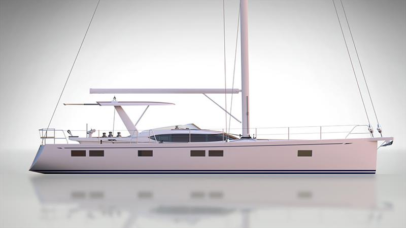 Hylas H57 new sleek hardtop option unveiled photo copyright Hylas Yachts taken at  and featuring the Marine Industry class