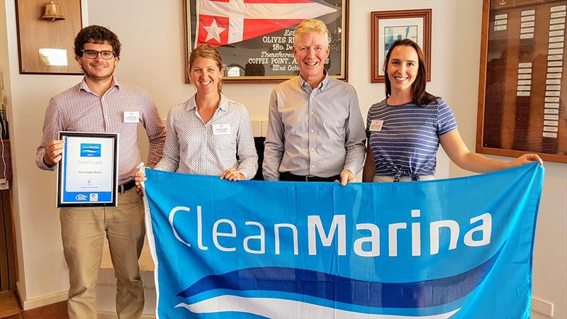 L-R: Jonathan McKay and Samantha Standish from Port Coogee Marina, Colin Bransgrove and Adelaide Bevilaqua from BMT Western Australia photo copyright Michelle Macready taken at  and featuring the Marine Industry class