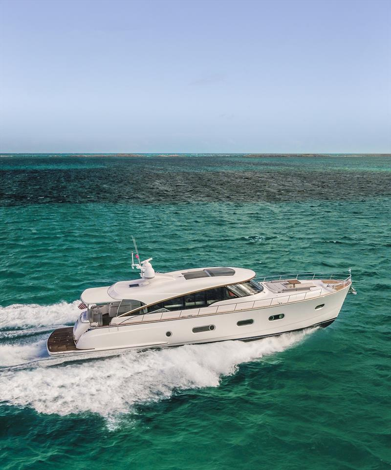Belize 66 Sedan photo copyright Riviera Australia taken at  and featuring the Marine Industry class