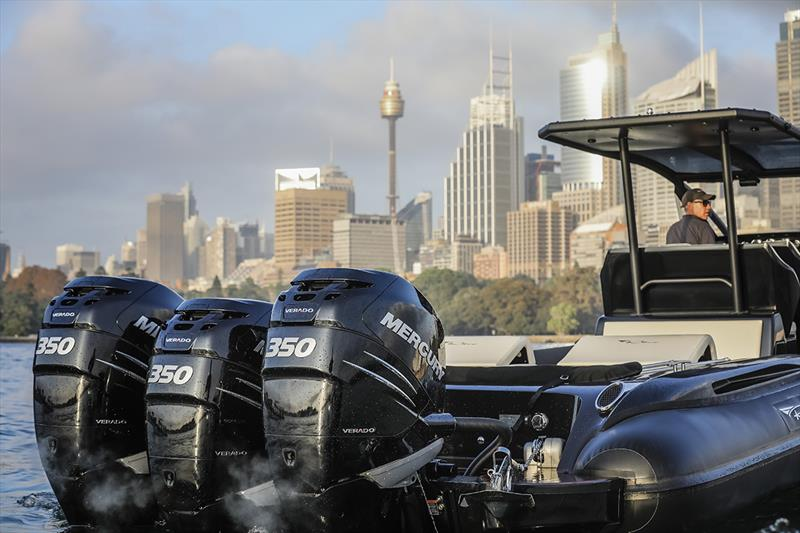 Ribco Australia Venom 44 - Engines and Cityscape photo copyright Salty Dingo taken at  and featuring the Marine Industry class
