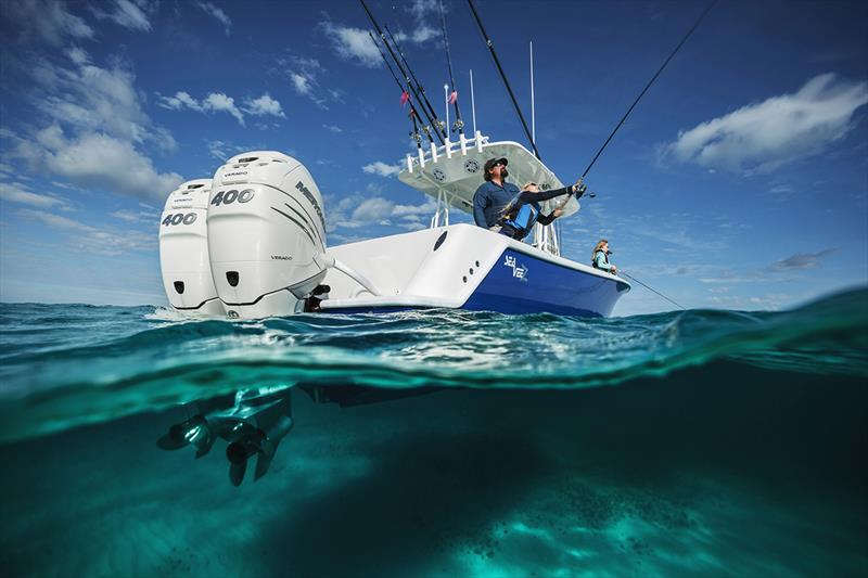 400hp Verado underwater photo copyright Mercury Marine taken at  and featuring the Marine Industry class