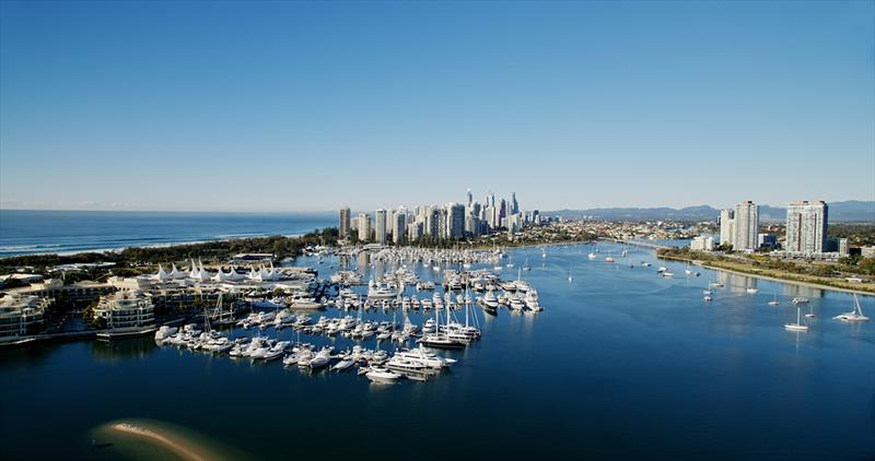 Aerial pic of Gold Coast Waterway photo copyright Colin Bransgrove taken at  and featuring the Marine Industry class