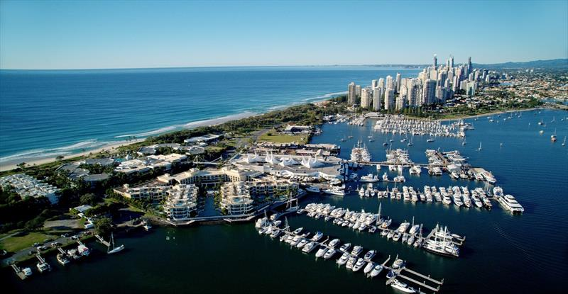 Gold Coast Broadwater aerial view photo copyright Clare Wray taken at  and featuring the Marine Industry class