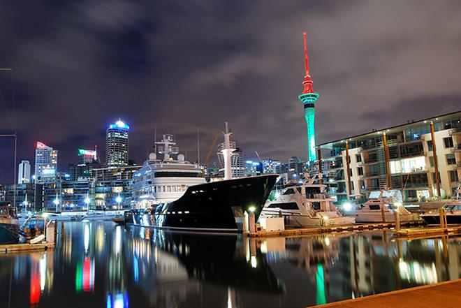 Superyacht in Auckland photo copyright Isla McKechnie taken at  and featuring the Marine Industry class