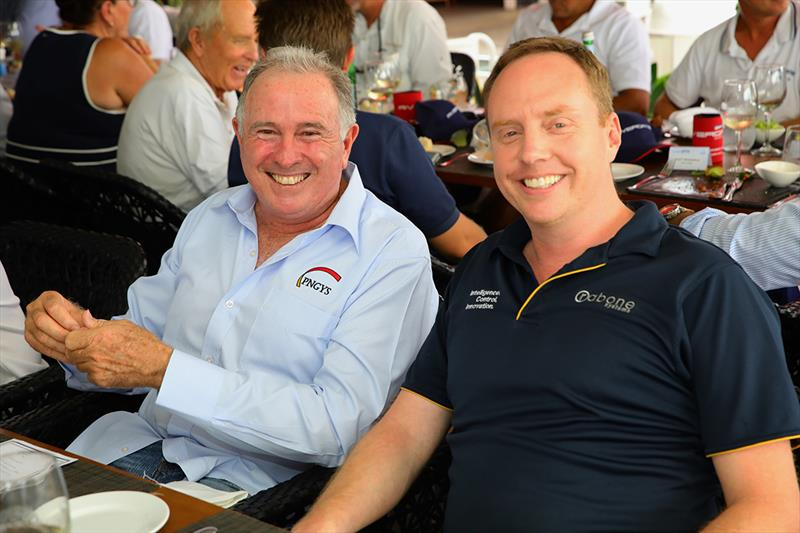 Craig De Wit (PNGYS) and Byron Rabone (Rabone Systems) at the Rivergate Marina & Shipyard VIP Captain's Lunch - 7th Annual Australia Tahiti Rendezvous photo copyright Kylie Pike taken at  and featuring the Marine Industry class