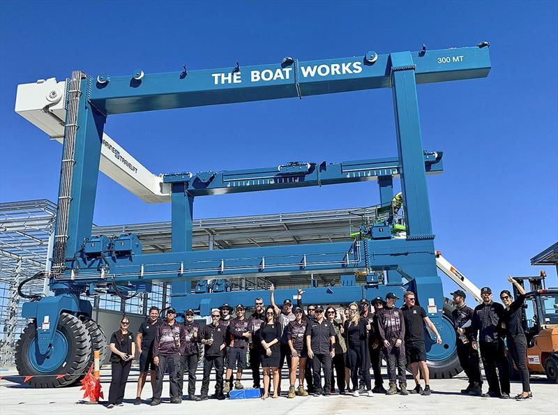 The Boat Works new 300 Tonne lift - photo © The Boat Works
