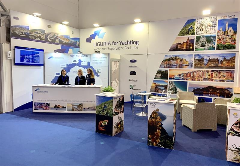 Liguria For Yachting stand at Boot Dusseldorf photo copyright Massimo Procopio taken at  and featuring the Marine Industry class