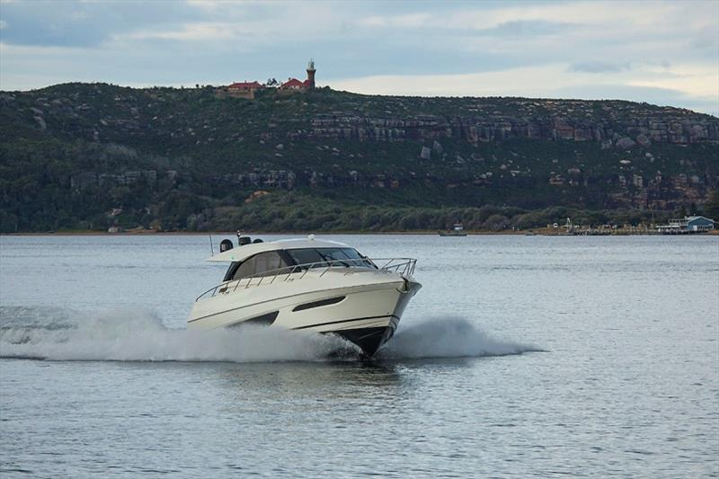 Maritimo X50 Steaming up Pittwater - photo © John Curnow