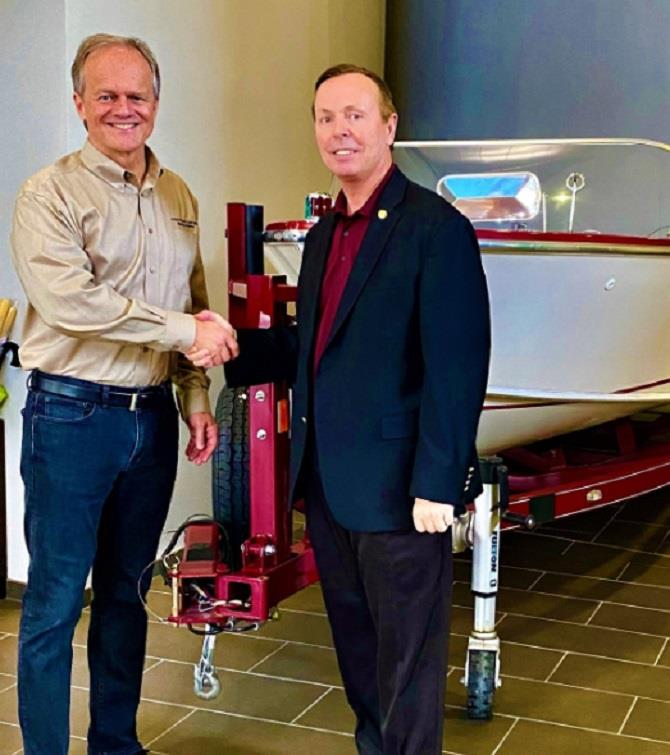 (L to R): Bill Yeargin, president and CEO of Correct Craft with Florida State Representative David Smith (District 28). - photo © National Marine Manufacturers Association