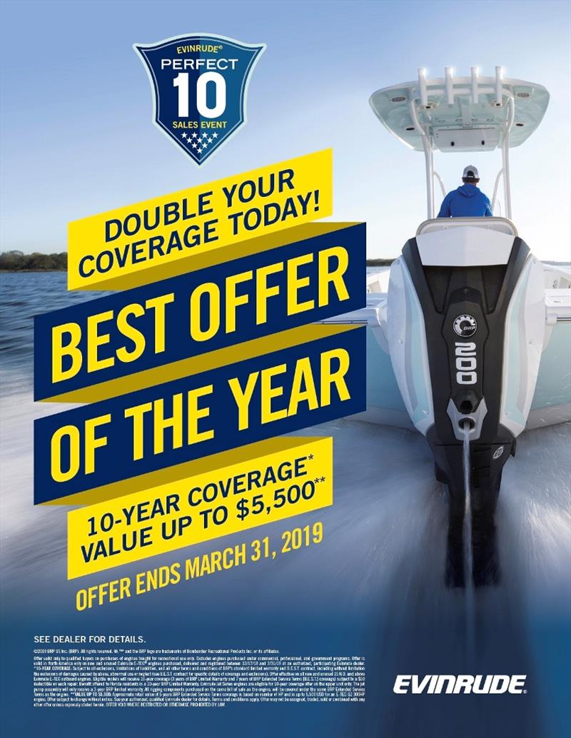 Evinrude announces Perfect 10 Sales event photo copyright Evinrude taken at