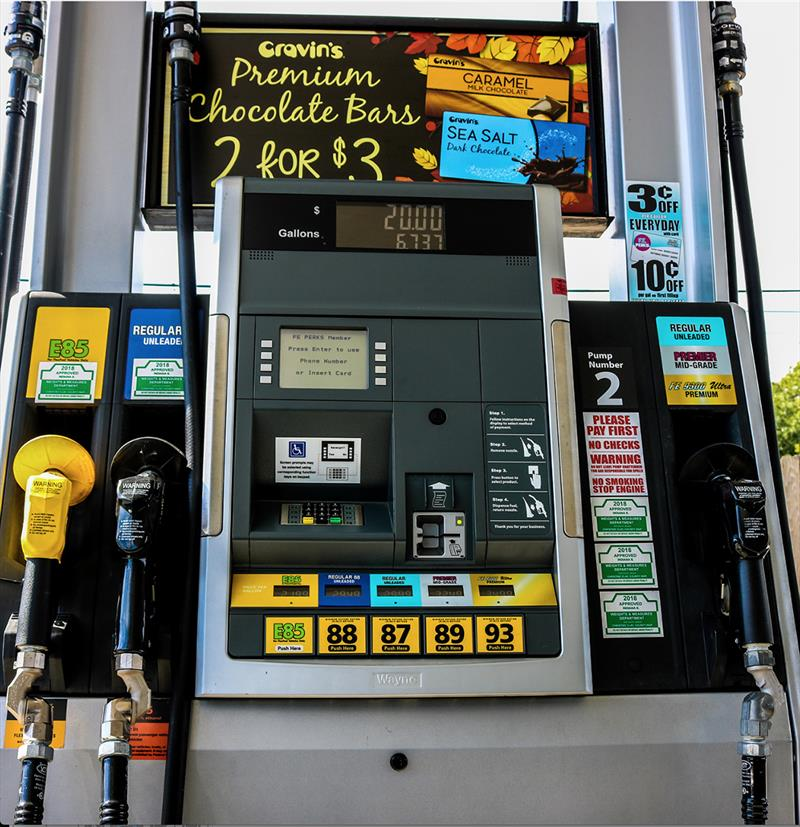 E15 gasoline is illegal for use in boats, many other vehicles, and power equipment. Can you find the E15 warning label? - photo © National Marine Manufacturers Association