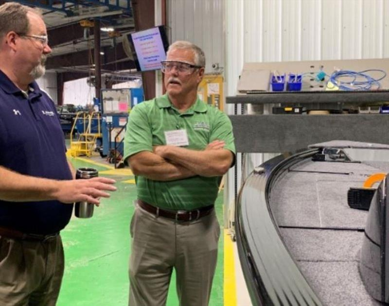 Minnesota State Senator Bill Ingebrigtsen visits Lund and Crestliner - photo © NMMA