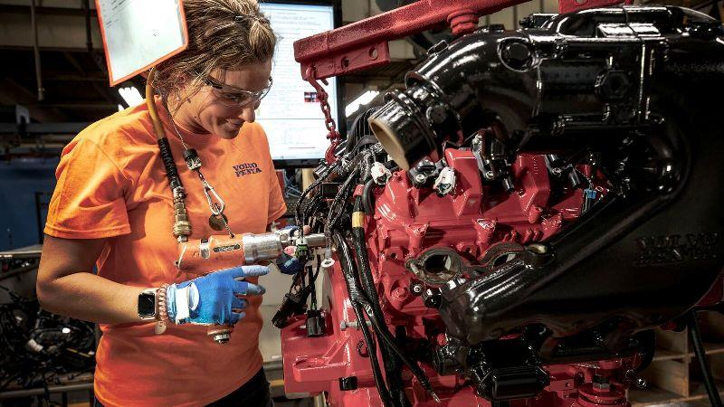 Volvo Penta's 210,000-square-foot facility in Lexington houses production of all the company's gasoline engines and drives for worldwide distribution. - photo © Volvo Penta