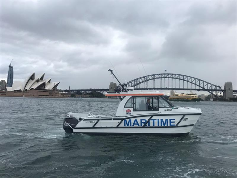 New NSW Maritime patrol vessel on Sydney Harbour - photo © NSW Maritime
