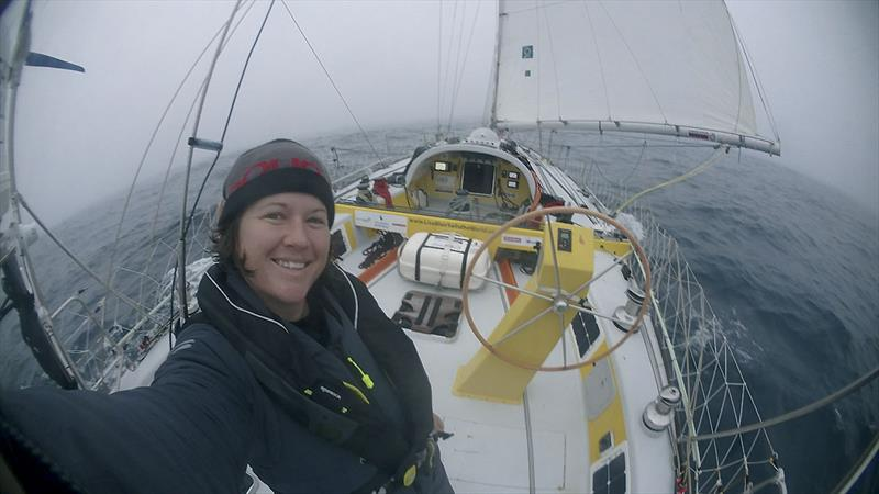 In heavy fog just after Cape Horn, as seen by Lisa... - photo © LisaBlairSailsTheWorld