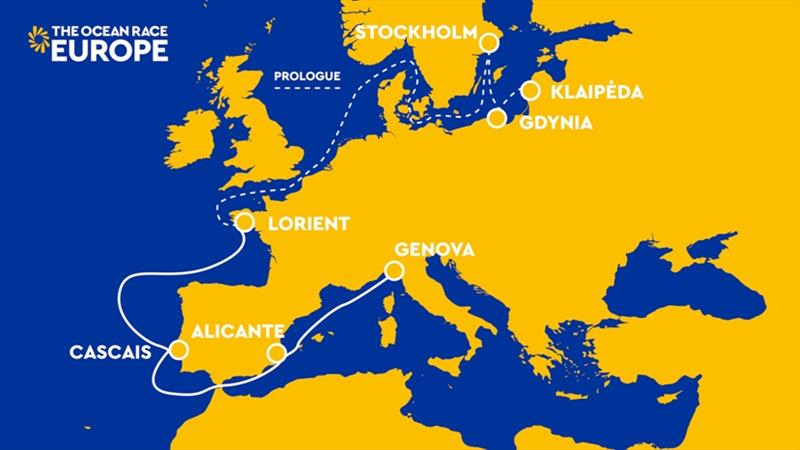 The Ocean Race Europe map - photo © null