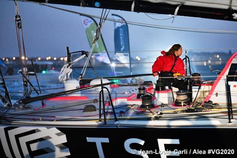 Alexia Barrier - Vendée Globe photo copyright Jean-Louis Carli / Alea taken at  and featuring the IMOCA class