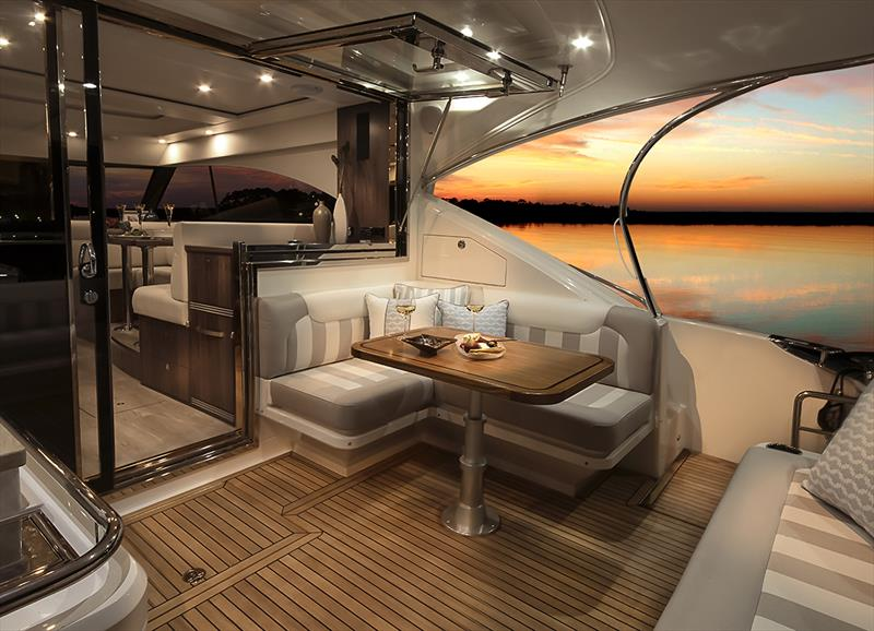 Alfresco lifestyle is epitomised in the open cockpit of the Riviera 4800 Sport Yacht. - photo © Riviera Australia
