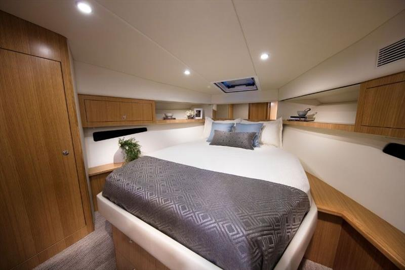 The luxurious master stateroom of the new Riviera 395 SUV - photo © Riviera Australia