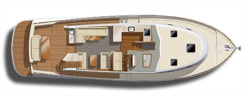 GB52 - Maindeck - Upper Galley Lounges - photo © Grand Banks Yachts