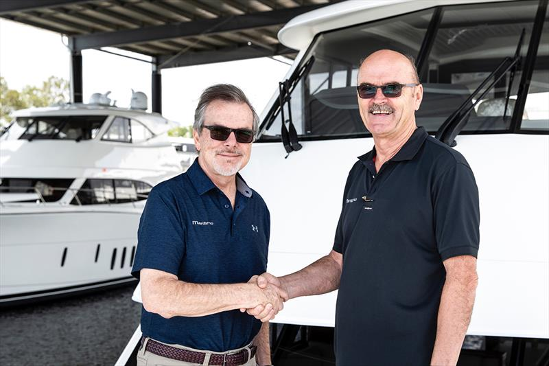 Maritimo Americas' President, Dave Northrop (L) with Phil Candler (Operations GM) on the right - photo © Darren Gill