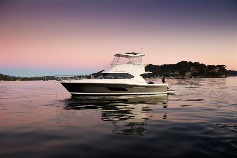 Riviera 43 Open Flybridge anchored photo copyright Riviera Australia taken at  and featuring the Power boat class