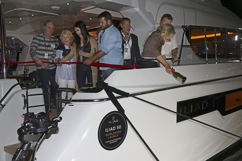New owners of the first vessels celebrate the launch of the new Iliad brand of powercats - photo © John Curnow