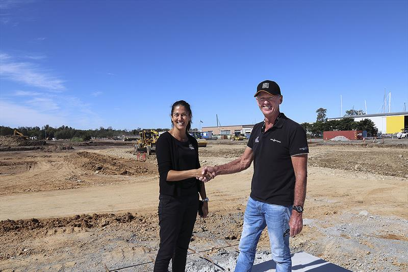 Charmaine Webb and Tony Longhurst on site at The Boat Works new super yacht facility - photo © John Curnow