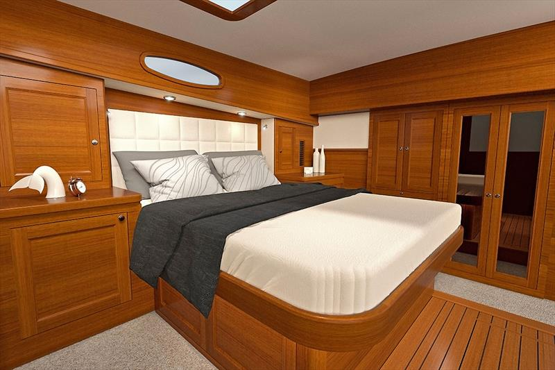 Master Stateroom of the new Grand Banks 54. - photo © Grand Banks/Palm Beach