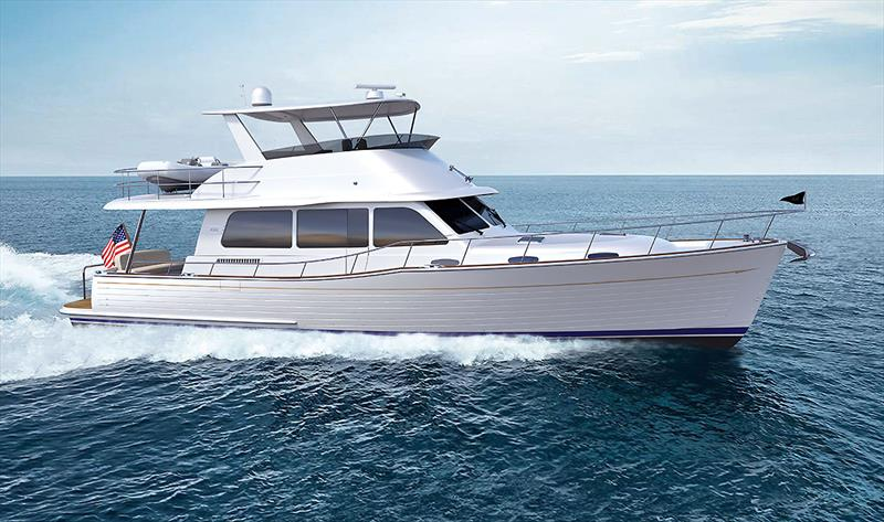The soon to be released Grand Banks 54 under way. - photo © Grand Banks/Palm Beach
