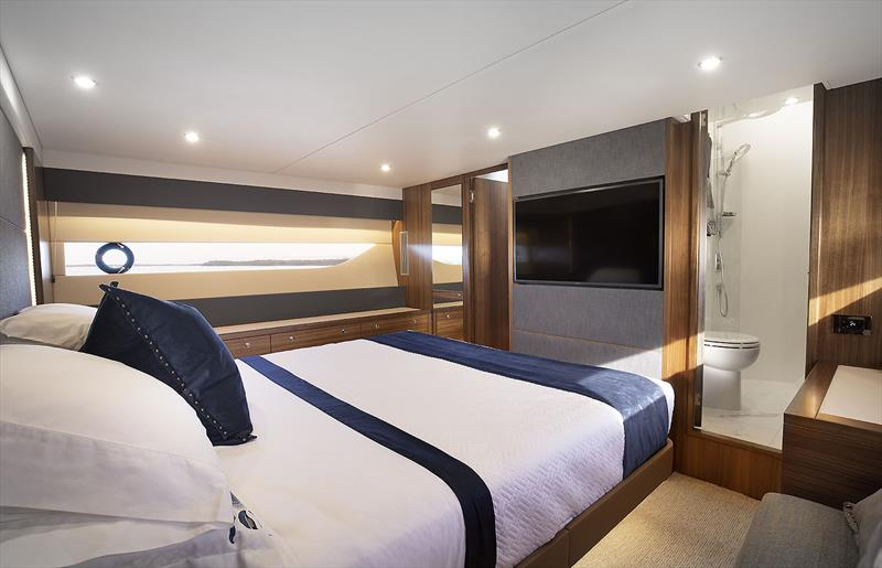 Master Stateroom aboard Maritimo's very new and enhanced X50R  - photo © Maritimo