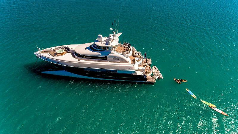 M/Y Spirit and some of her toys - photo © Spirit Luxury Charters