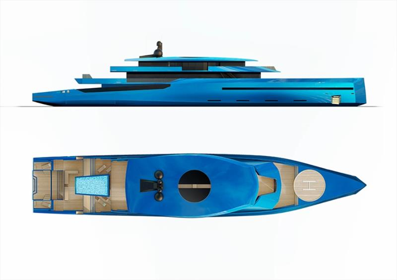 75-meter superyacht concept Bravo 75 - photo © BYD Group