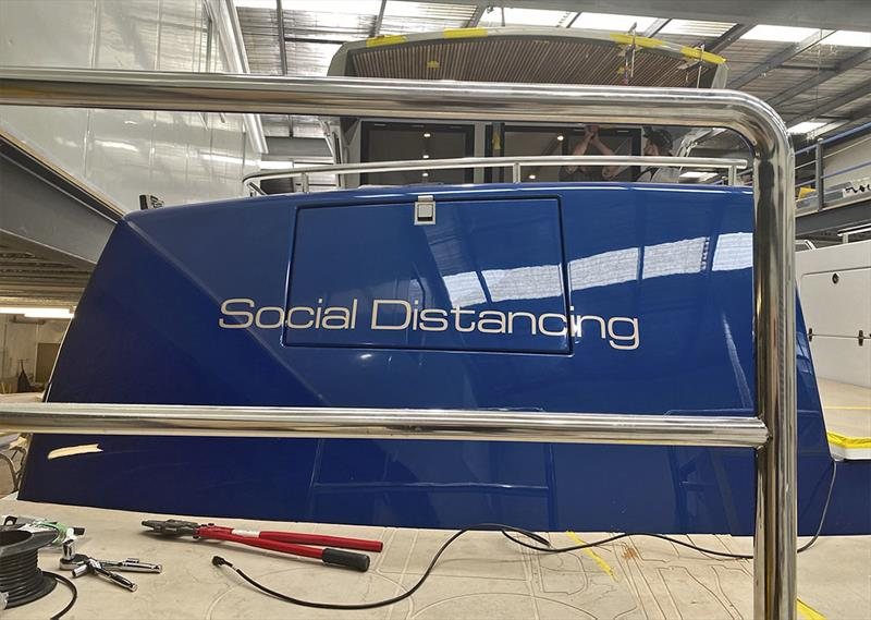 How apt, and how 2020 - Social Distancing - the new Cape50 - photo © Composites Constructions