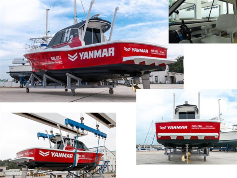 Demonstration test boat with maritime fuel cell system - photo © Yanmar