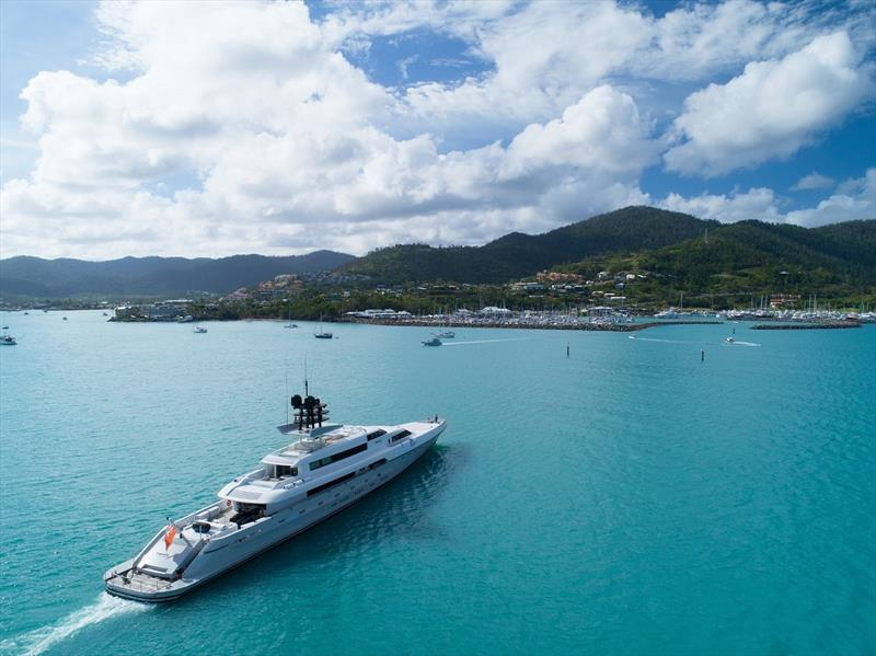 Superyacht making its way to Coral Sea Marina Resort - photo © Australian Superyacht Rendezvous