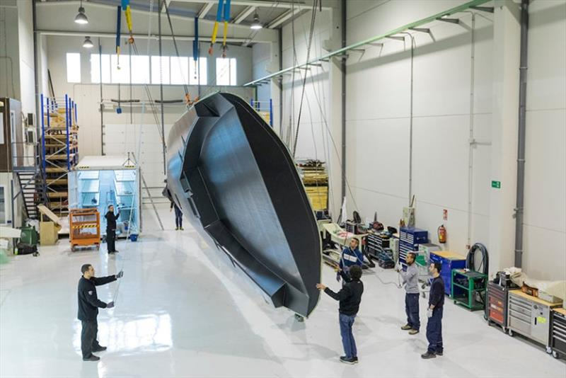 Building of the Azzurra TP52 in King Marine, Valencia - photo © Sergio Formoso / Azzurra